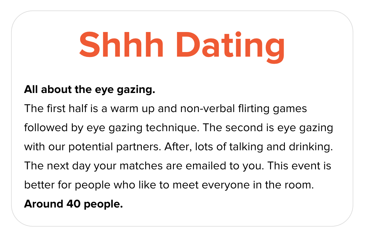 eye gazing speed dating london